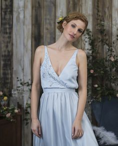 Bridalwear designer based in London, creating timeless and unique wedding dresses for the modern romantic. Sienna also offers a bespoke design service. Alternative Wedding Dresses, Bespoke Design, Silk Chiffon, Service Design, Detail, Unique, Blue, Inspiration, Collection