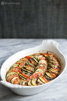 Zucchini Eggplant Tomato Gratin | Simply Recipes (Or let's just call a spade a spade and acknowledge this is really ratatouille)