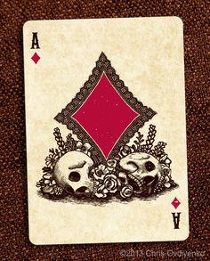 Calaveras Playing Cards by Chris Ovdiyenko