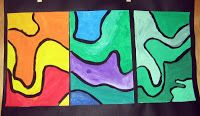 (aka  Slug paintings) I'm really excited to share this lesson I did with my 6th graders during their color/painting unit. I'm also proud to...