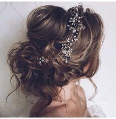 Messy up do bridal hair