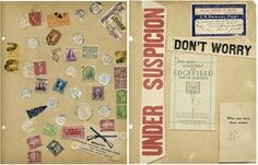 antique scrapbook pages from the Annie Rives Nicholson Collection at the University of North Carolina.