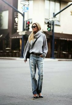 Oversized Sweater With Stylish Jeans --  The Power of Pinning!
