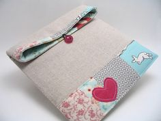 Linen and patchwork bag