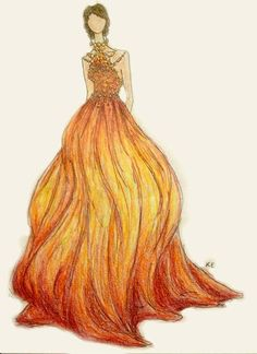 A beautiful rendition of katniss' interview outfit. One of the most elegant I've seen