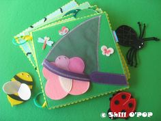 PDF Pattern Over In The Meadow Finger Puppet Felt by ShillOPOP
