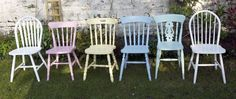 Made to order instant shabby chic mismatch dining chair set £180.00
