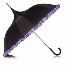 black and purple umbrella