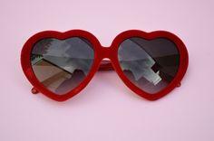48f2a503dc Heartshape RED VELVET Classic Lolita Sunglasses front Heart Shaped  Sunglasses