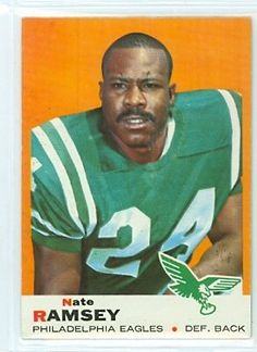 1969 Topps Football 63 Nate Ramsey Eagles Near-Mint by Topps. $4.00. This vintage card featuring Nate Ramsey is # 63 from the 1969 Topps Football set