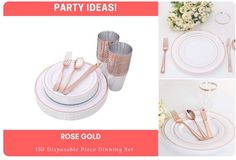 Christmas And New Year, Christmas Gifts, Plastic Silverware, Dinning Set, Gold Cup, New Years Party, For Your Party, Dinner Plates, Dinnerware