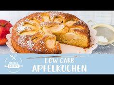 Dieser Apfelkuchen ist super schnell gemacht und so saftig und lecker! Und das, obwohl kein Gramm Mehl und Zucker darin zu finden sind. Du wirst ihn lieben! Bagel, French Toast, Muffin, Keto, Breakfast, Desserts, Gramm, Super, Food