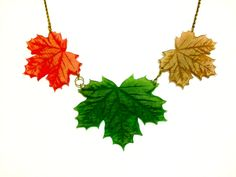 Autumn maple leaves This 3 leaf necklace is inspired by nature and change of seasons. Each leaf is laser cut and engraved in matt acrylic. The technique used gives this necklace slightly frosty look. Just like you would see on leaves early Autumn morning. Each leaf is around 45mm wide [...]