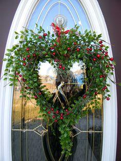 Grapevine Heart Door Wreath DecorBerry by AnExtraordinaryGift. , via Etsy.