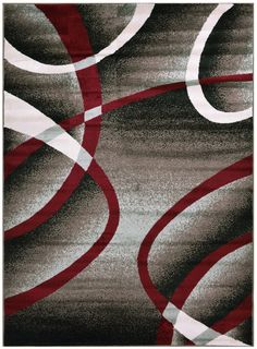 Comfy Collection Stripes Swirl Abstract Design Area Rug Modern Contemporary Rug 2 Color Options (Cappuccino Grey, 2' x 3'3') -- Discover this special offer, click the image : Free Home and Kitchen