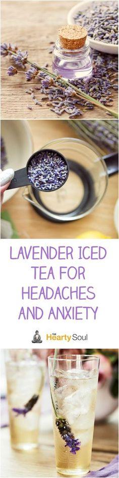 Lavender Iced Tea For Headaches and Anxiety - Health Detox Yummy Drinks, Healthy Drinks, Detox Drinks, Fruit Detox, Healthy Detox, Healthy Food, Fruit Tea, Healthy Sleep, Fruit Juice