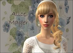 Lowi♥Sims: ★Update★ ts2 sim - Alice Mayer Sims 2, Disney Characters, Fictional Characters, Alice, Female, Disney Princess, Fantasy Characters, Disney Princesses, Disney Princes