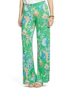 Lauren Ralph Lauren Plus Paisley Print Wide Leg Pants