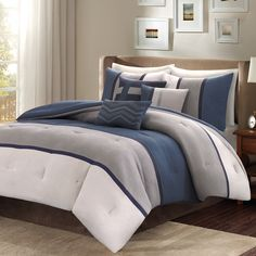 Madison Park Warner 7-Piece Comforter Set - Overstock™ Shopping - Great Deals on Madison Park Comforter Sets
