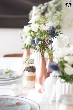DIY mariage déco de table inspiration cuivre et blanc l La Fiancée du Panda blog Mariage et Lifestyle