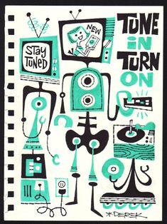 Los dibujos a ritmo de rockabilly y jazz de Derek Yaniger - Yorokobu