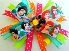He encontrado este interesante anuncio de Etsy en https://www.etsy.com/es/listing/150559446/disney-princess-bow-princess-hair-bow