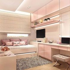 146 best teen bedroom ideas for girl and boys 47 mantulgan.me Wonderful Teen Bedrooms Bedroom boys Girl ideas mantulganme Teen Girl Bedroom Designs, Room Ideas Bedroom, Small Room Bedroom, Small Rooms, Bedroom Decor, Bedroom Boys, Small Space, Awesome Bedrooms, Cool Rooms