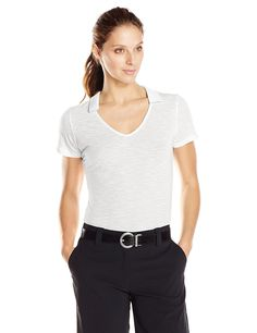 adidas Golf Women's Essentials Slub Polo *** You can get additional details at the image link.