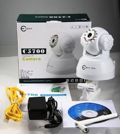 Easy-set-up! Esky C5700 Wireless LAN & built-in DDNS pan/tilt IP Camera Monitoring System, 2-way audio, Night vision, support PC/MAC -White by Esky. $54.99. High-quality monitoring via the network You can monitor a high-quality live image from the camera using the Web browser on a computer connected to a WiFi network.  Remote-controllable high-speed pan/tilt mechanism The camera is provided with a high-speed (200° rotation/second) pan/tilt mechanism, which allo...