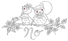 Owl embroidery pattern | Vintage Embroidery Patterns + Join Group