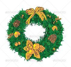 Vector Christmas Garland