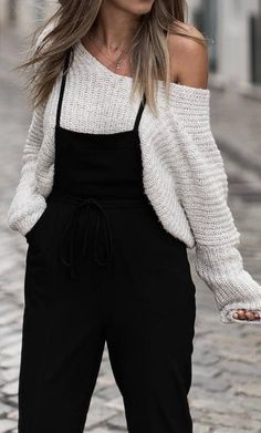 spring outfit idea: top + overall