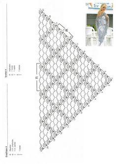 super ideas for crochet shawl wrap tutorials yarns Crochet Shawl Diagram, Crochet Poncho, Crochet Chart, Filet Crochet, Crochet Scarves, Crochet Motif, Crochet Clothes, Crochet Lace, Crochet Stitches