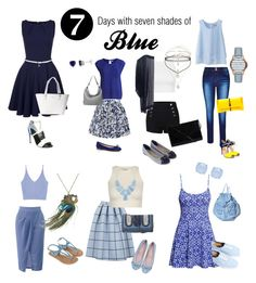 Seven shades of Blue by ferrerchristine on Polyvore featuring polyvore, fashion, style, Closet, H&M, Uniqlo, Free People, Topshop, Object Collectors Item, Zara, Elle Sasson, Vans, Accessorize, Monsoon, Christian Louboutin, Kate Spade, Pieces, STELLA McCARTNEY, Ellington, Armani Exchange, Forever New, Kendra Scott and Miss Selfridge