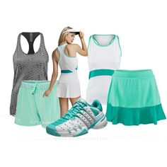 One great shoe, two awesome looks by tennis-warehouse on Polyvore featuring Under Armour and adidas
