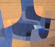 Michel Vouga abstract tapestry, 1960's. via Modest Designs