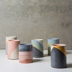 The Finders Keepers Melbourne Market is back next month with one of our best designer line-ups yet! Painted Plant Pots, Ceramic Plant Pots, Clay Pots, Concrete Pots, Concrete Crafts, Ceramic Cafe, Ceramic Pottery, Keramik Design, Beton Diy