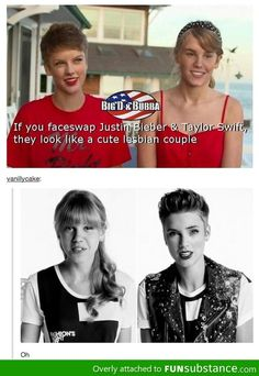They don't need to sway faces- everyone already thought they were a really nice lesbian couple. Duh.