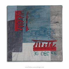 Herculaneum Dock by Helen Conway - Liverpool Overhead Railway Series - mixed media 30 cm x 30 cm