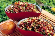 Riso rosso alla cantonese Oriental, Orzo, Risotto, Italian Recipes, Salsa, Grains, Brunch, Favorite Recipes, Cooking