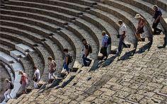 Tourists explore the ruins at Pompeii    John Wright of Southam