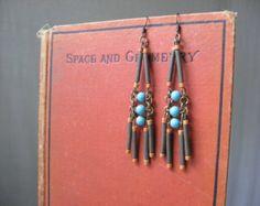 Chandelier Earrings Southwestern Ethnic Beaded Dangle Earrings Boho Chic Tribal Jewelry