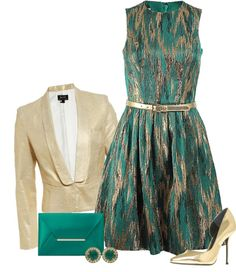 """""""Turquoise Elegance"""" by chelseagirlfashion on Polyvore"""