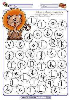 """Dos nuevas fichas a color y blanco y negro para reconocimiento de la letra """"L"""" en mayúscula, minúscula, cursiva y Montessori. Si dispones de PDI con la ficha en color puedesusarlapara trabajarla ..."""