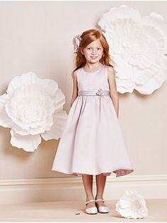 A-line Knee-length Flower Girl Dresses