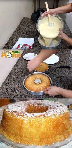 Bolo de Coco com 4 Ingredientes #BolodeCococom4Ingredientes #BolodeCoco #Receitatodahora Easy Smoothie Recipes, Easy Smoothies, Good Healthy Recipes, Sweet Recipes, Cookie Recipes, Snack Recipes, Snacks, Stewart, Pumpkin Spice Cupcakes