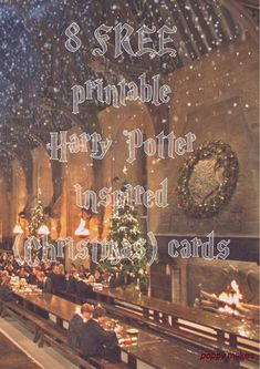 Poppy Makes... Harry Potter inspired Christmas cards. On my blog you'll 8 FREE to download Christmas cards. Have fun!  #PoppyMakes #DIY #Craft #Crafting #FREE #Printable #Template #Xmas #Christmas #ChristmasCards #HarryPotterChristmasCard #HarryPotterQuote #HarryPotter #Ron #Hermione #Dumbledore #Dobby #HP #8DaysTillChristmas #LinkInBio
