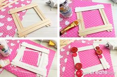This Valentine Popsicle Stick Craft is such a cute and simple frame for the kids to make and give as a Valentine's Day gift. There's nothing better than a handmade gift, especially when it comes Valentines Art For Kids, Valentines Frames, Kinder Valentines, Valentines Day Funny, Valentines Day Activities, Valentine Day Crafts, Craft Activities, Valentines Hearts, Popsicle Stick Crafts