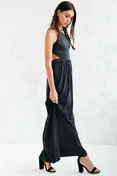 Kimchi Blue Y-Neck Cutout Maxi Dress - Urban Outfitters
