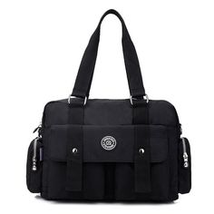 Ladies Casual Nylon Waterproof Bags Multiple Pocket Handbag Shoulder Bag